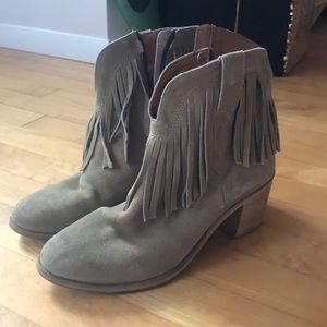 J/Slides Fringe Cowgirl Booties